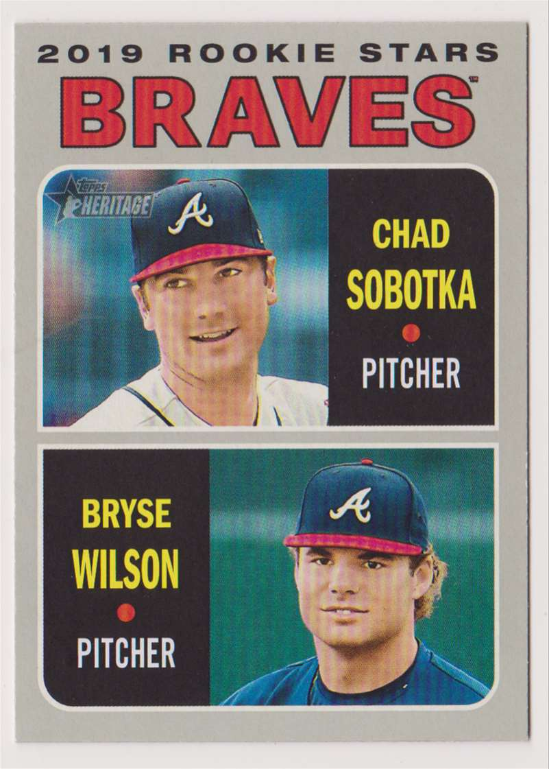 2019 Topps Heritage Chad Sobotka Bryse Wilson #172 card front image