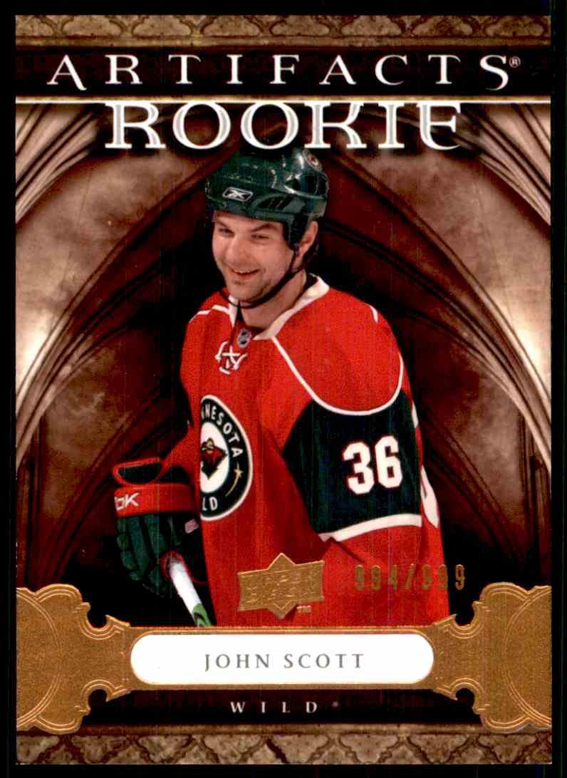 2009-10 Upper Deck Artifacts John Scott #160 card front image