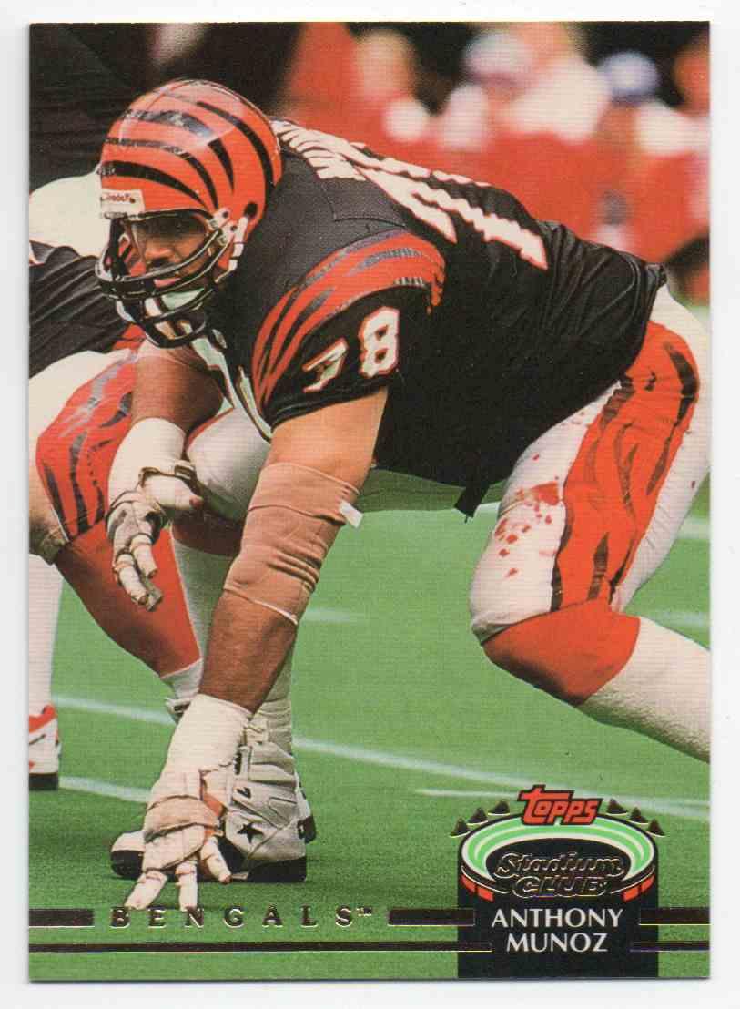 1992 Stadium Club Anthony Munoz #410 card front image