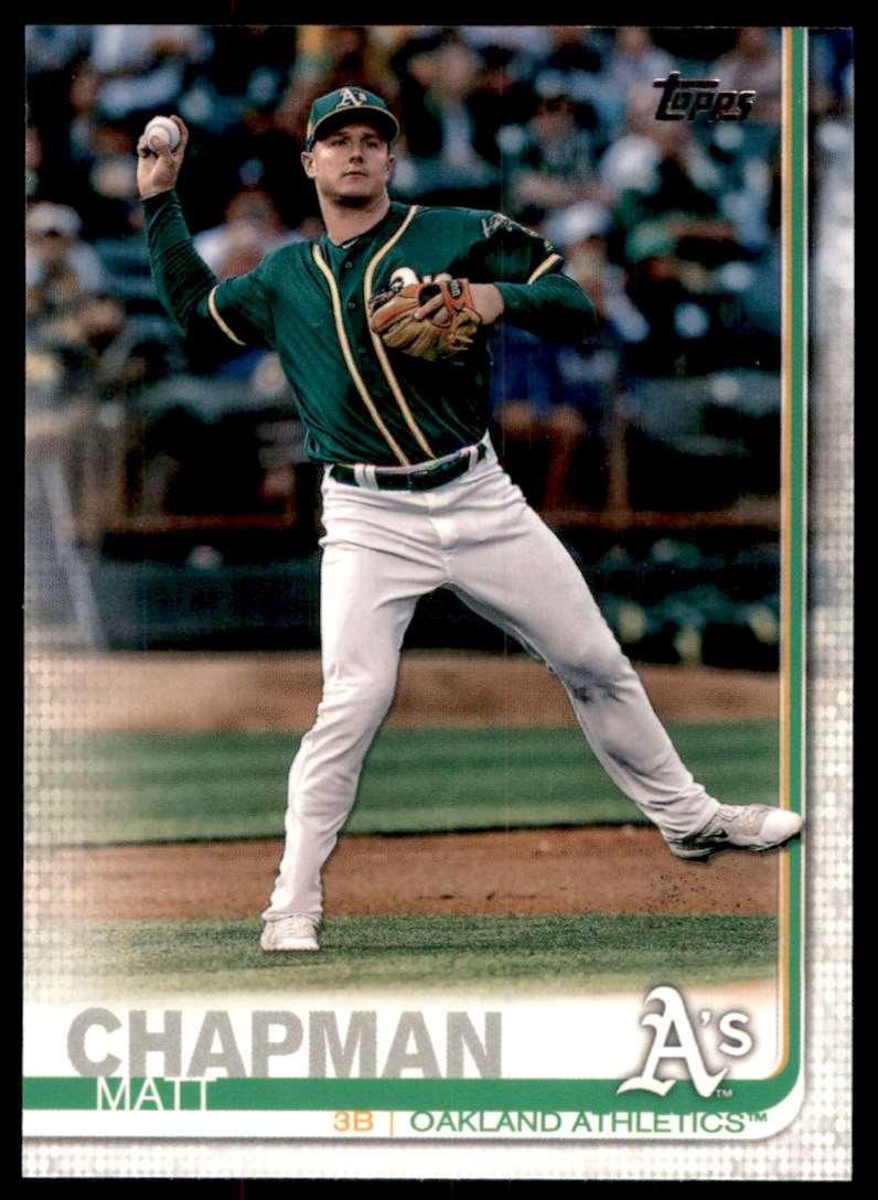 2019 Topps Matt Chapman #166 card front image