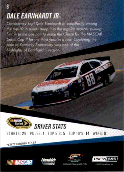 2014 Press Pass Dale Earnhardt #8 card back image