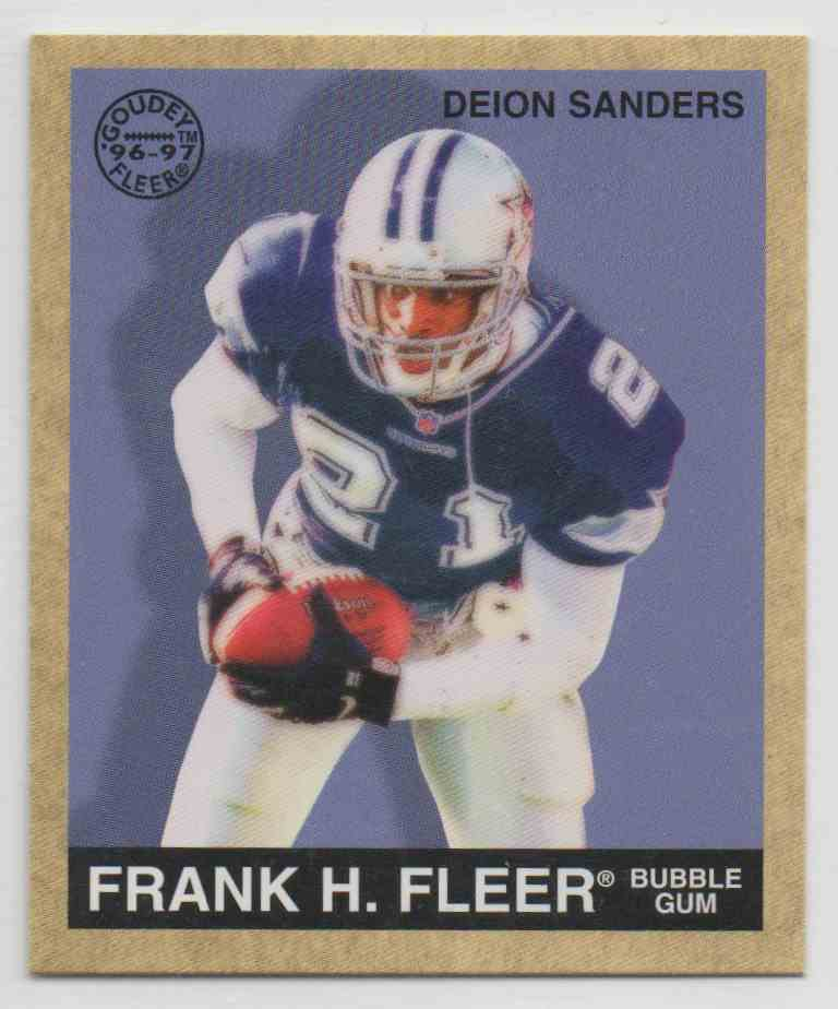 1997 Fleer Goudey Deion Sanders #96 card front image