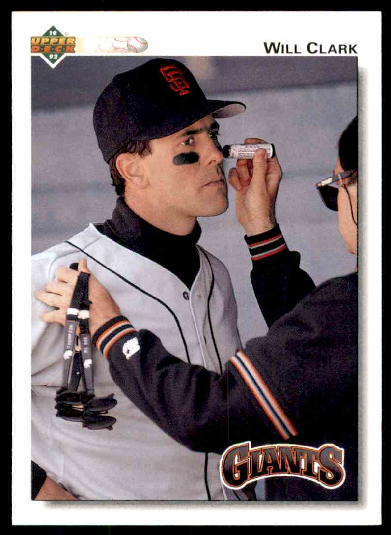 1992 Upper Deck Will Clark #175 card front image