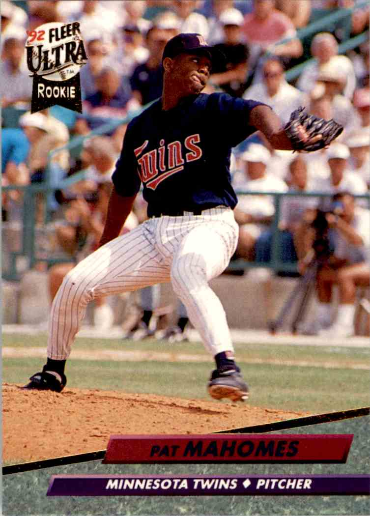 1992 Fleer Ultra Rookie Pat Mahomes 398 On Kronozio
