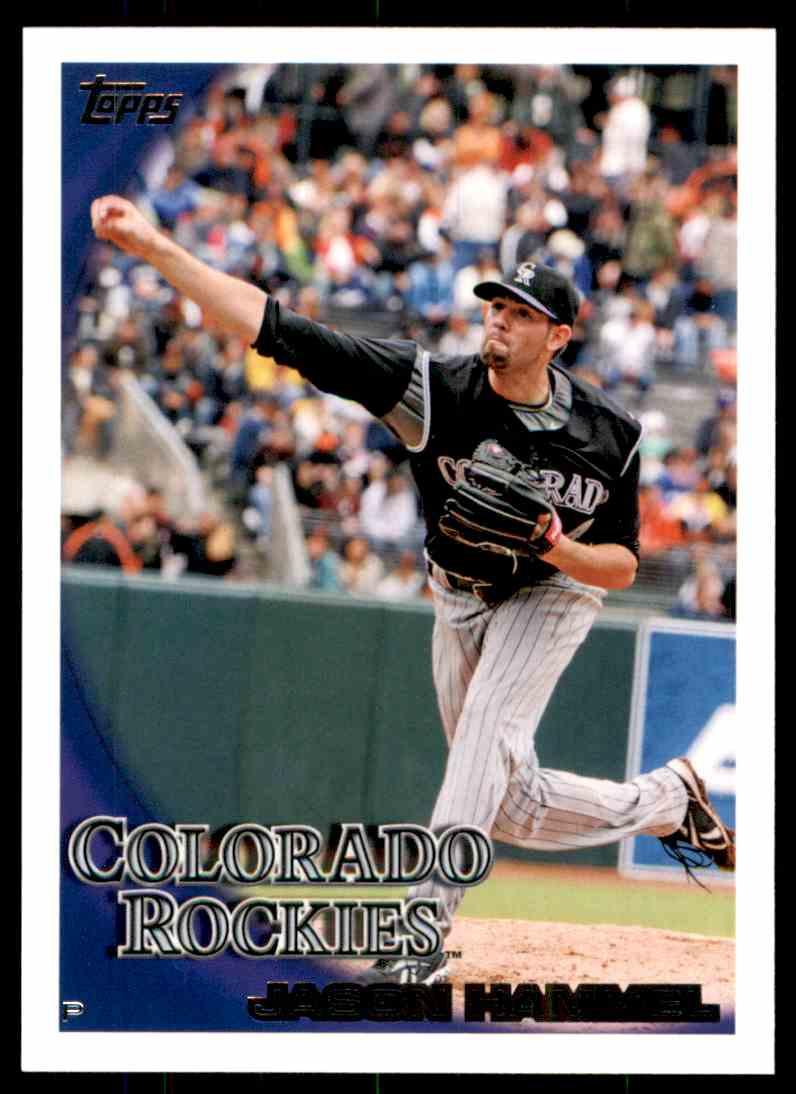 2010 Topps Jason Hammel #443 card front image
