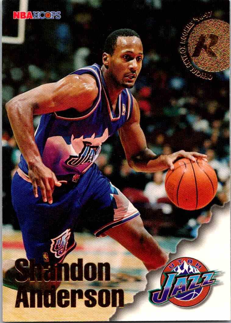 1997-98 NBA Hoops Shandon Anderson #280 card front image