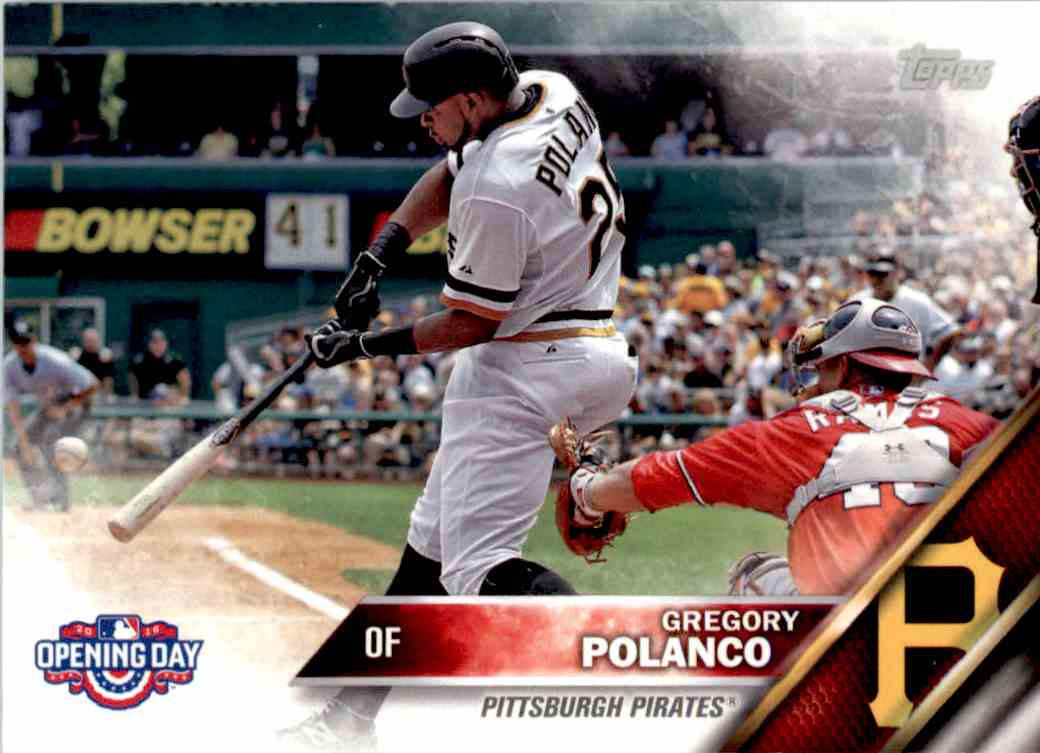 2016 Topps Opening Day Gregory Polanco #OD-96 card front image