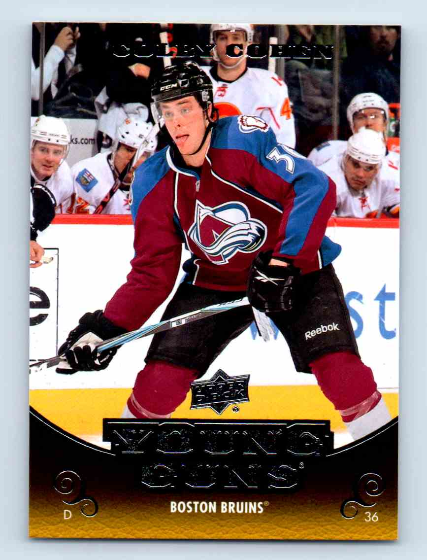 2010-11 Upper Deck Young Guns Colby Cohen #455 card front image
