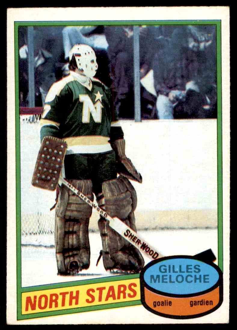 1980-81 O-Pee-Chee Gilles Meloche #47 card front image
