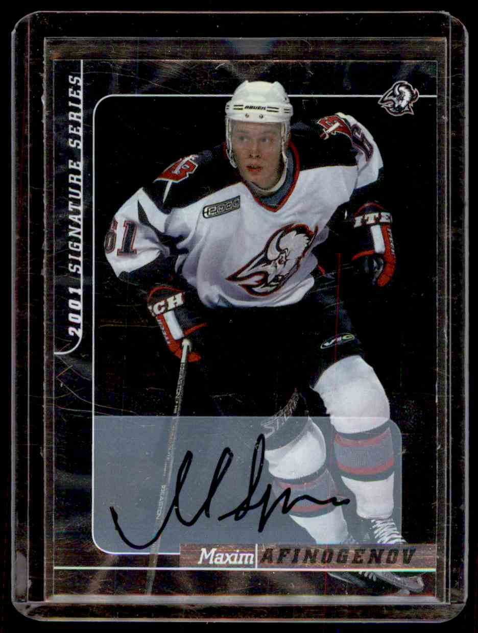 2000-01 Be A Player Signature Series Autographs Maxim Afinogenov #81 card front image
