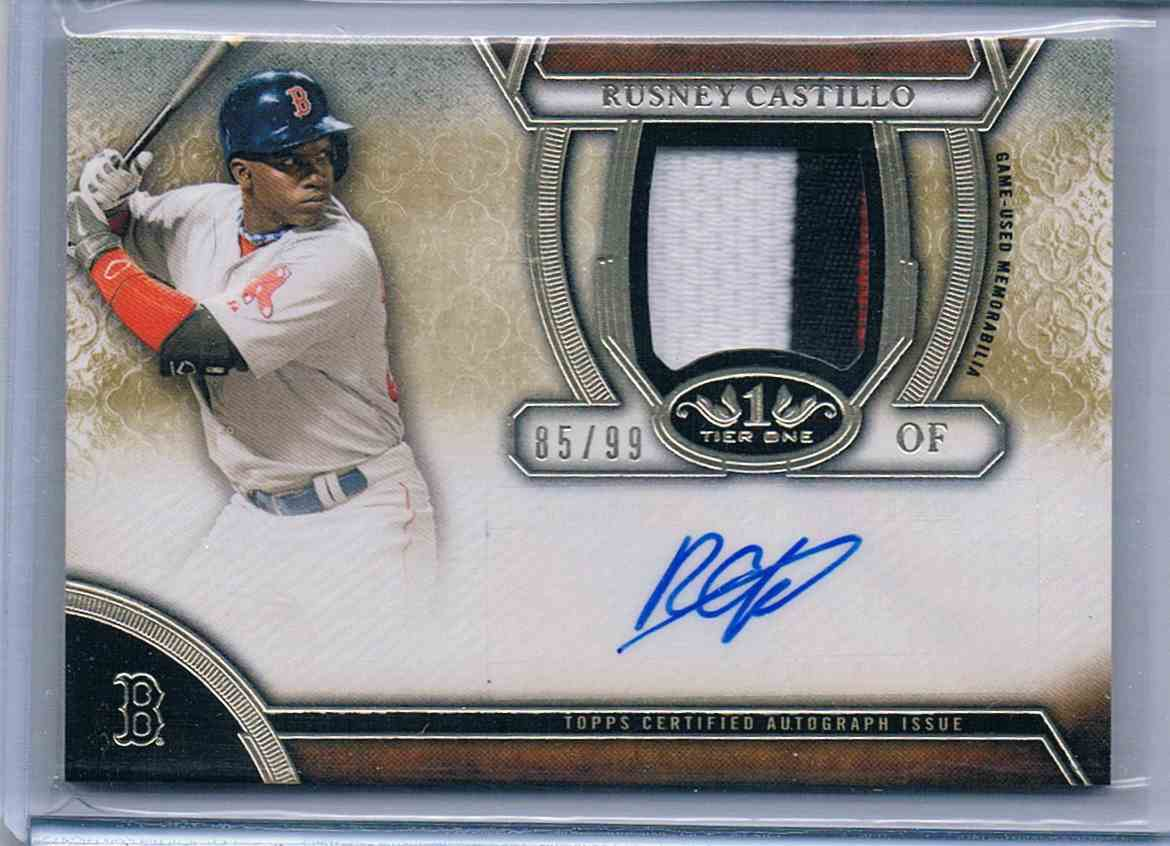 2015 Topps Tier One Relic Rusney Castillo #TOAR-RC card front image