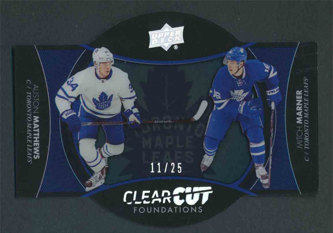 2017-18 Upper Deck ClearCut Foundations Auston Matthews Mitch Marner #CCF-27 card front image