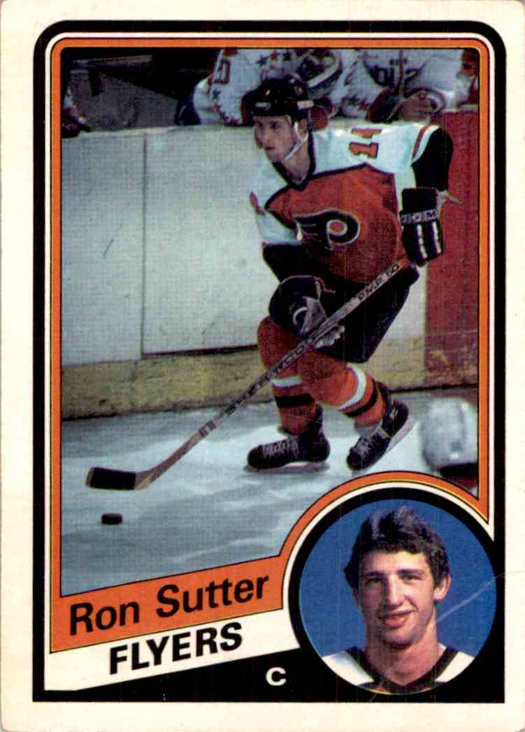 1984-85 O-Pee-Chee Ron Sutter #170 card front image
