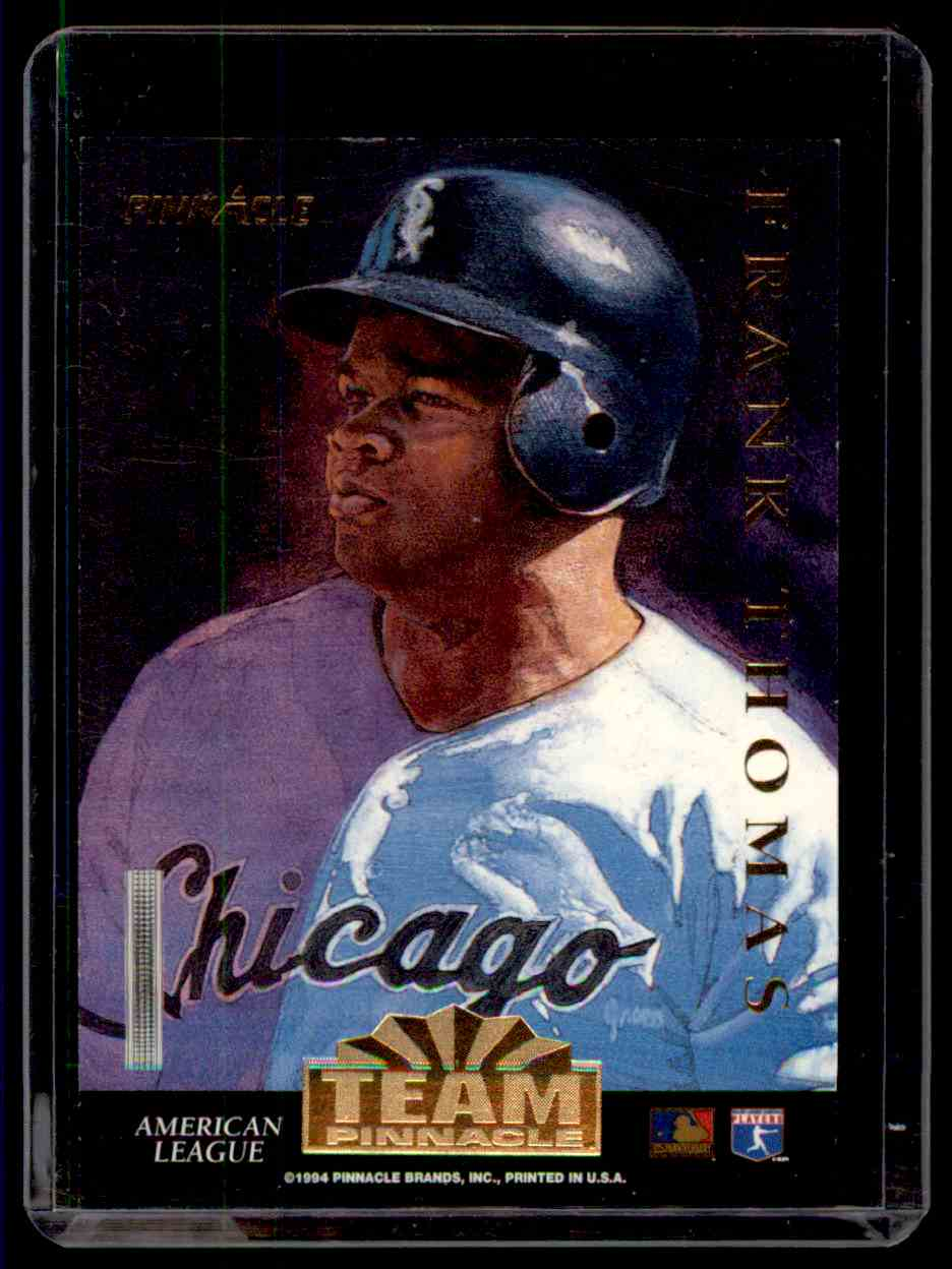 1994 Pinnacle Team Pinnacle Frank Thomas Jeff Bagwell #1 card front image