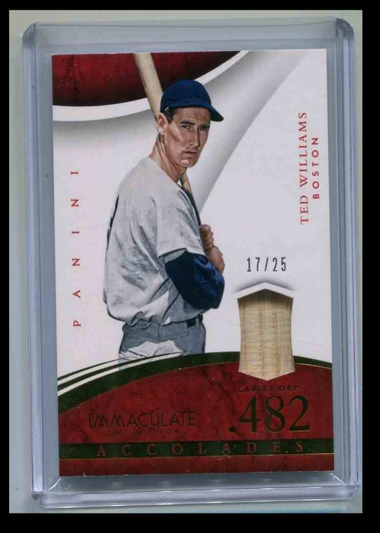 2015 Panini Immaculate Bat Relic Ted Williams card front image