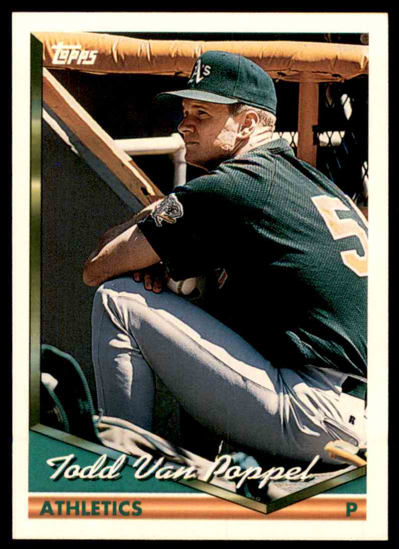 1994 Topps Todd Van Poppel #559 card front image