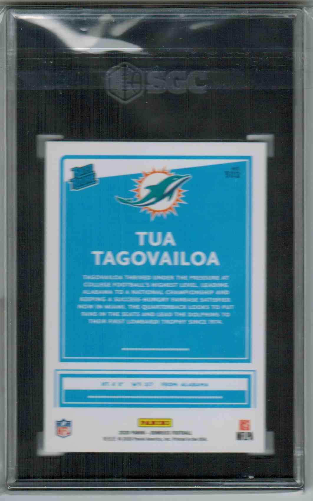 2020 Donruss Press Proof Blue Tua Tagovailoa #302 card back image