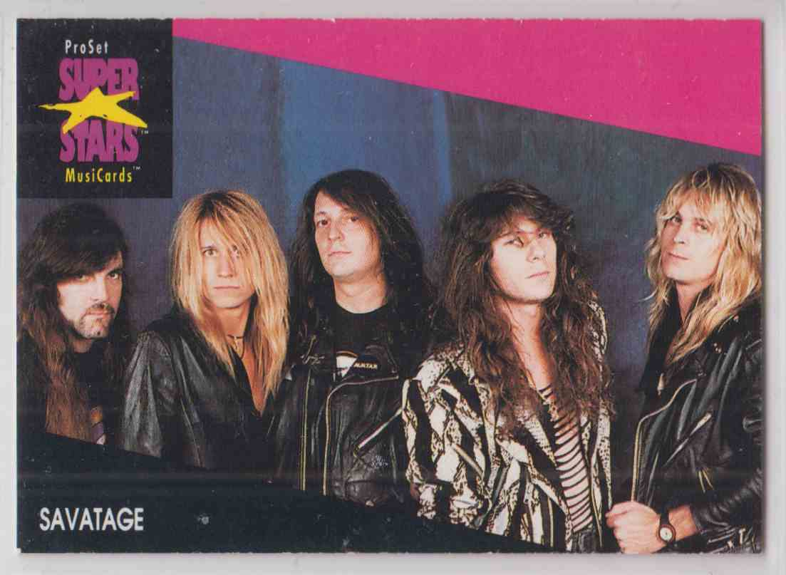 1991 Pro Set SuperStars MusiCards Savatage #232 card front image