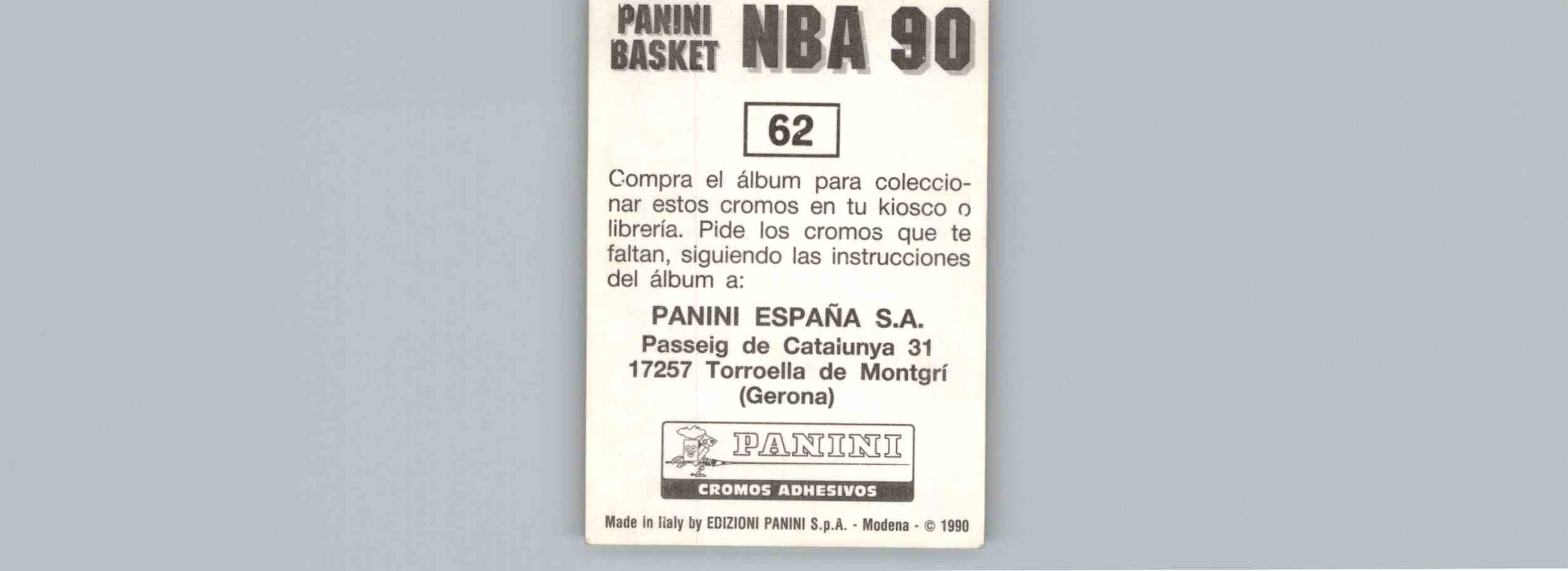 1990 91 Panini Basket NBA 90 Base Antoine Carr 62 on Kronozio