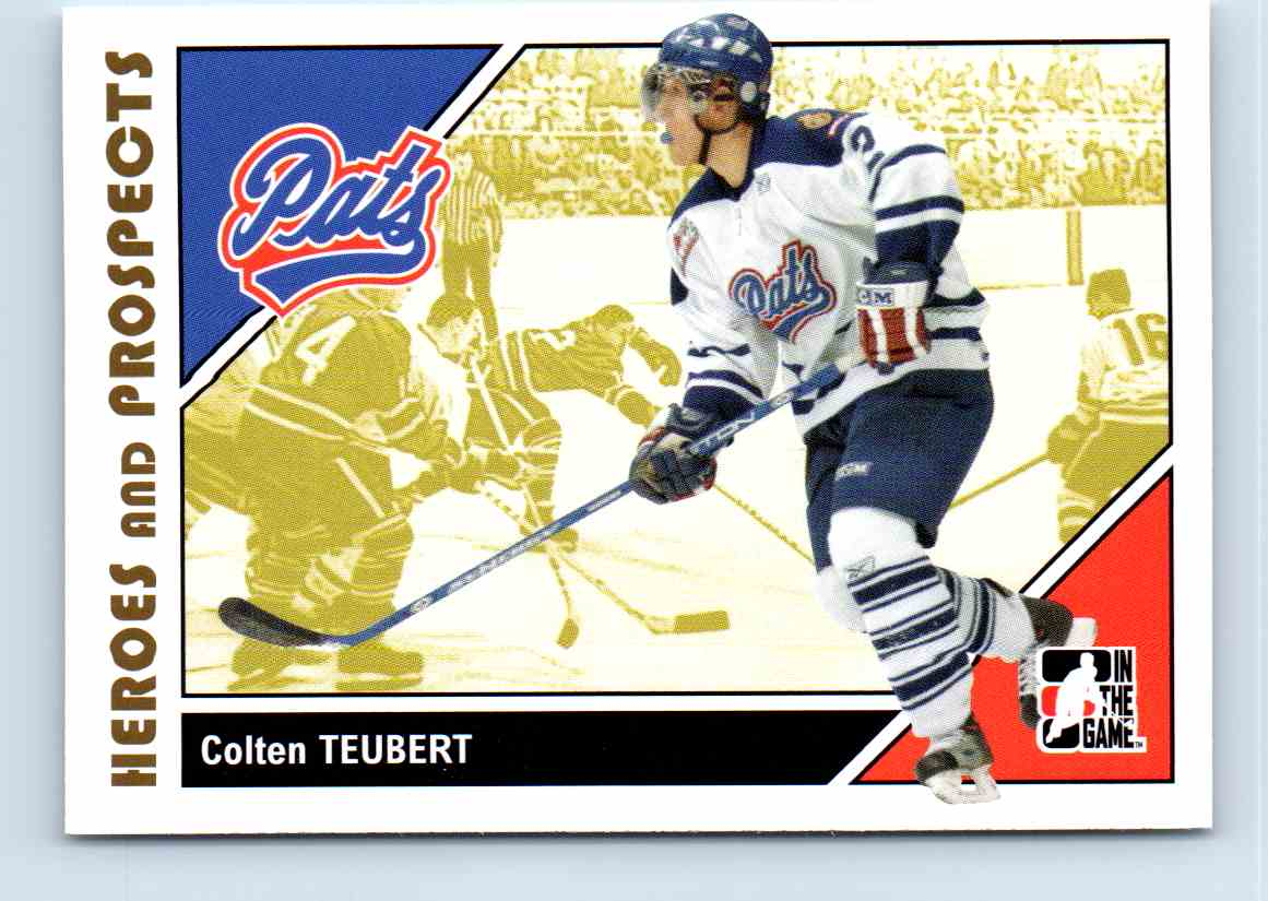 2007-08 ITG Heroes And Prospects Coltem Teubert #57 card front image