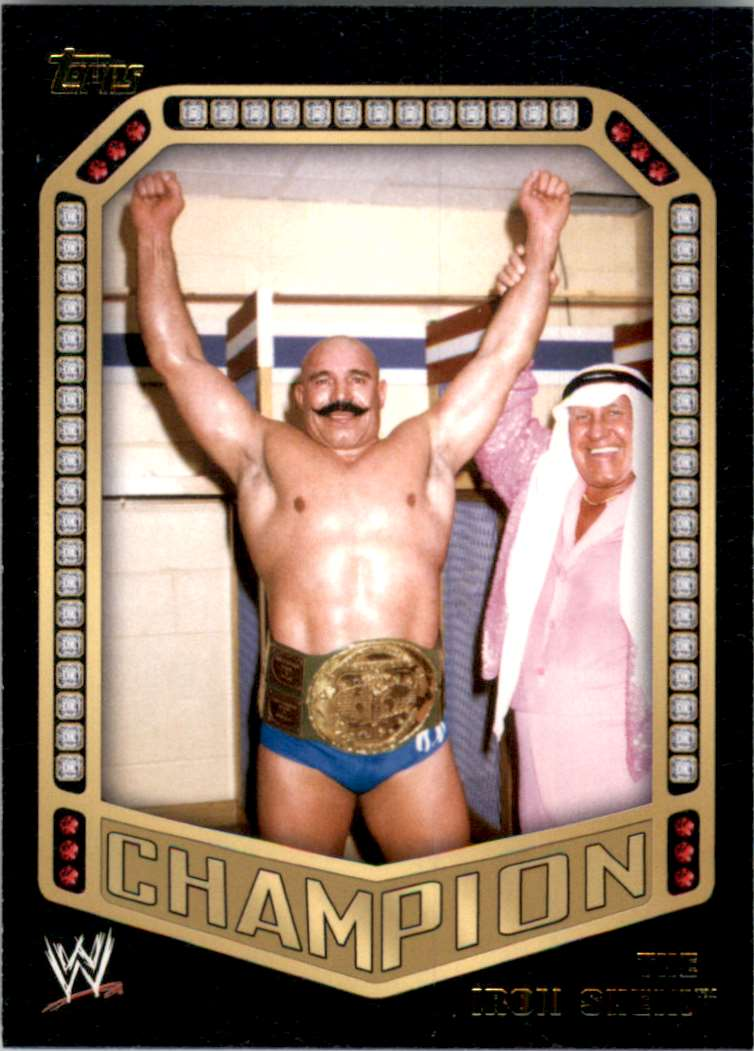 2014 Topps Wwe Champions The Iron Sheik #3 card front image