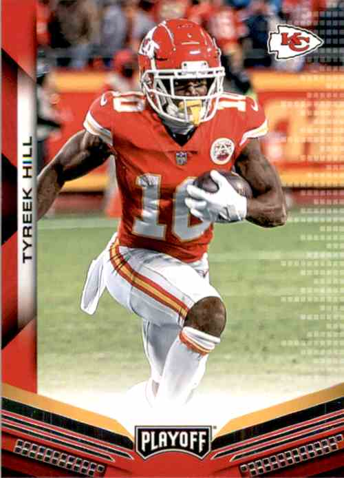 2019 Playoff Tyreek Hill #82 card front image