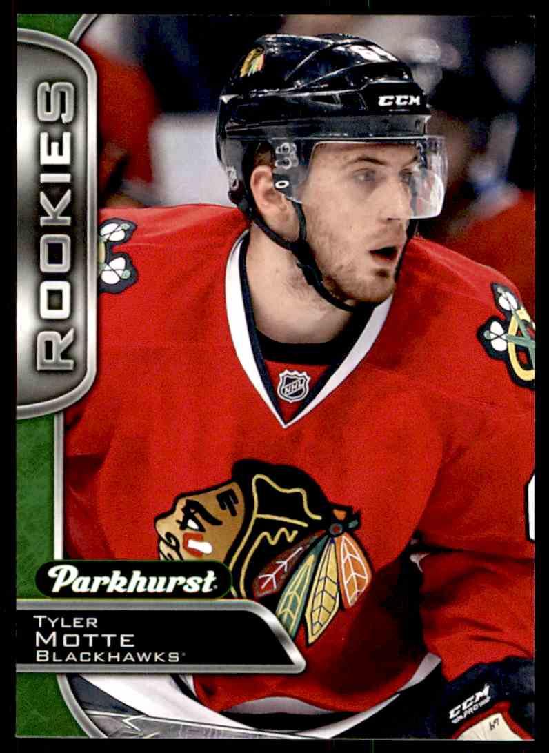 2016-17 Parkhurst Rookies Tyler Motte #371 card front image