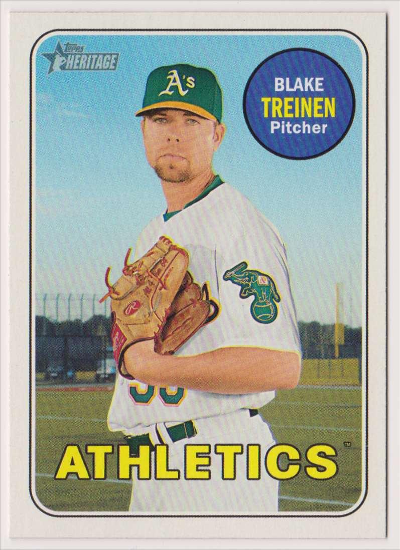 2018 Topps Heritage Blake Treinen #673 card front image