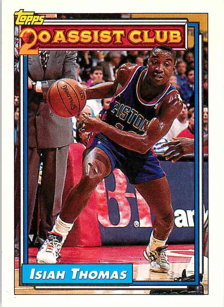 1992-93 Topps Isiah Thomas #219 card front image
