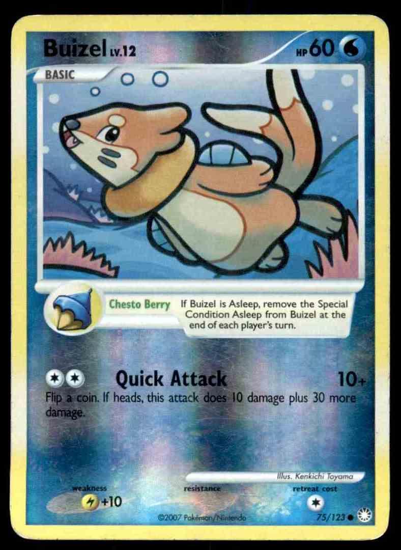 Common Mysterious Treasures Pokemon Near Mint 75//123 4x Buizel