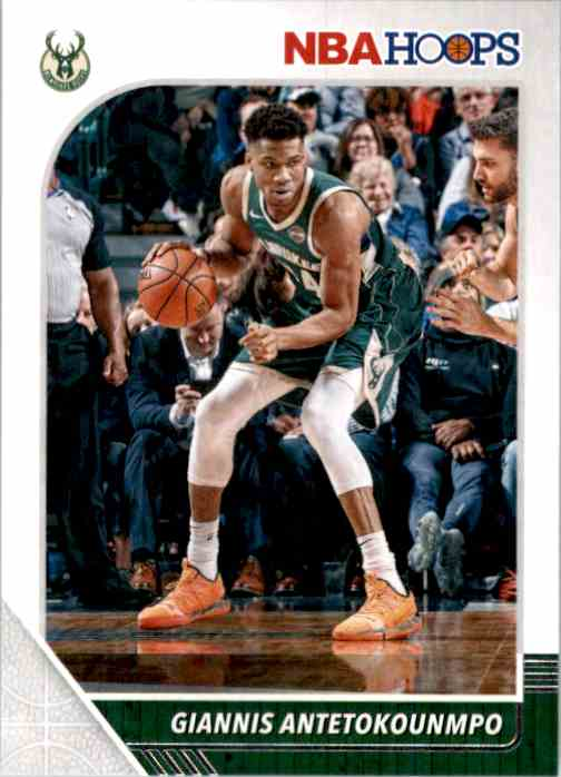 2019-20 Hoops Giannis Antetokounmpo #102 card front image