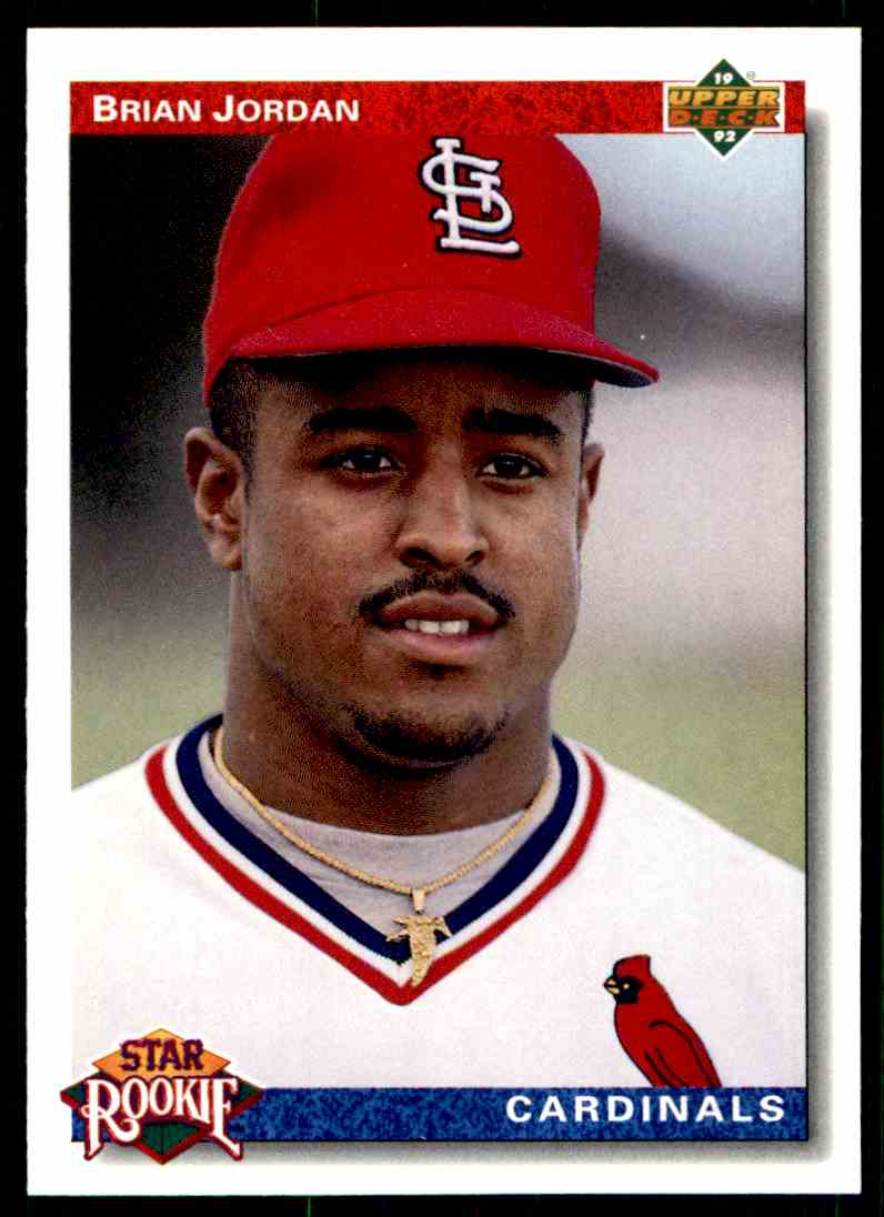 1992 Upper Deck Brian Jordan #3 card front image