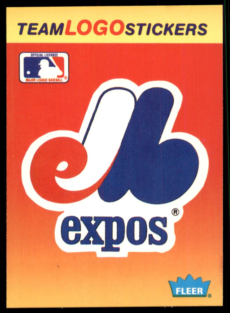 1991 Fleer Team Logo Stickers Montreal Expos #49 card front image