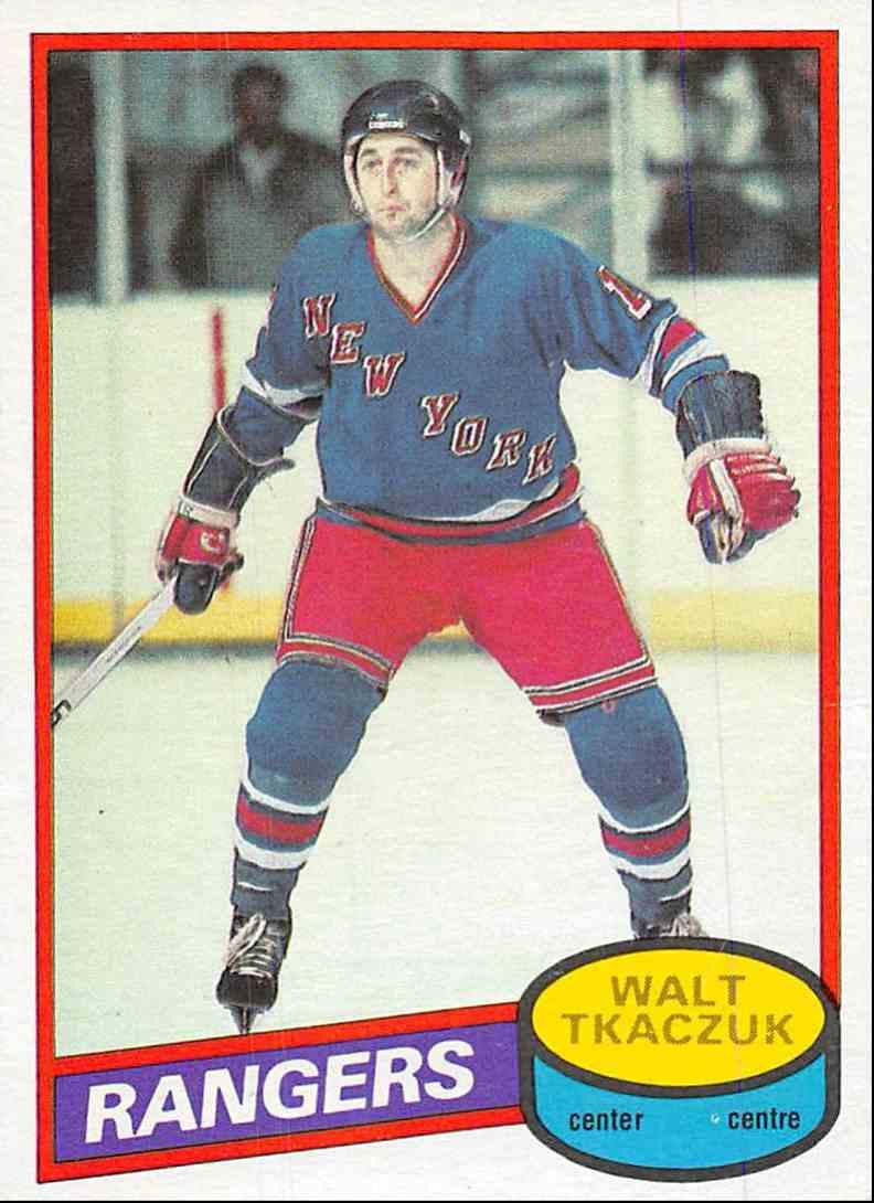 1980-81 O-Pee-Chee Walt Tkaczuk #211 card front image