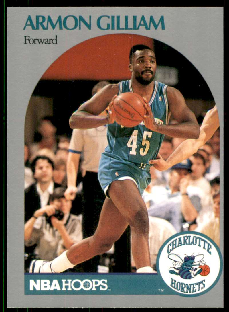 1990-91 Hoops Armon Gilliam #54 card front image
