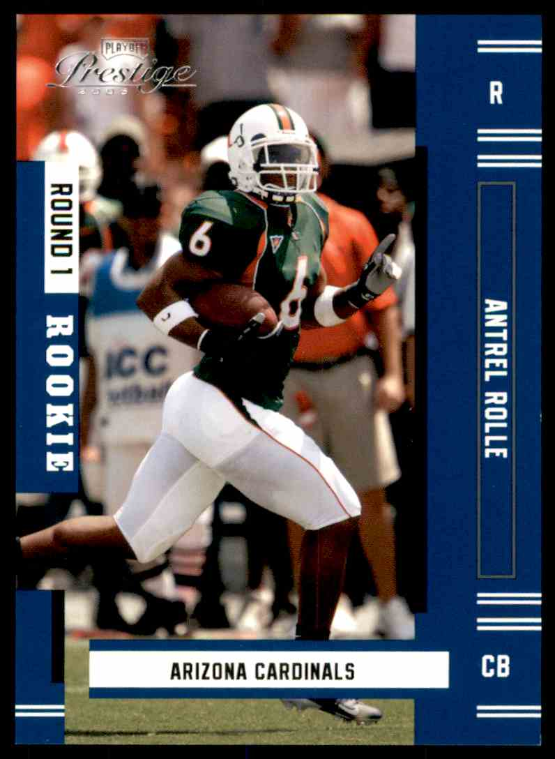 2005 Playoff Prestige Antrel Rolle RC #234 card front image