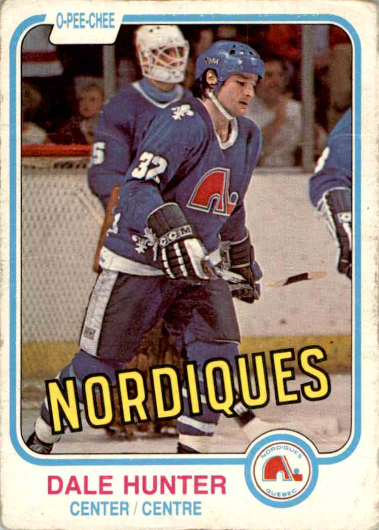 1981-82 O-Pee-Chee Dale Hunter #277 card front image