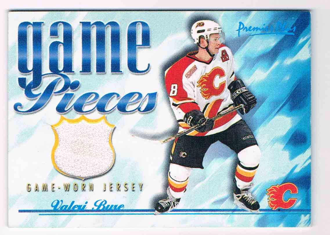 2000-01 Topps Topps Premier Plus Game Pieces Valeri Bure #GP-VB card front image