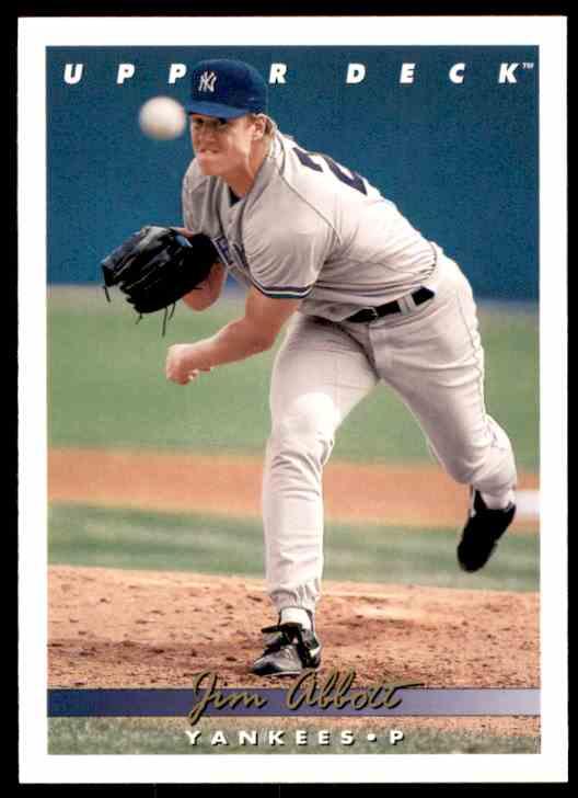 1993 Upper Deck Jim Abbott #554 card front image