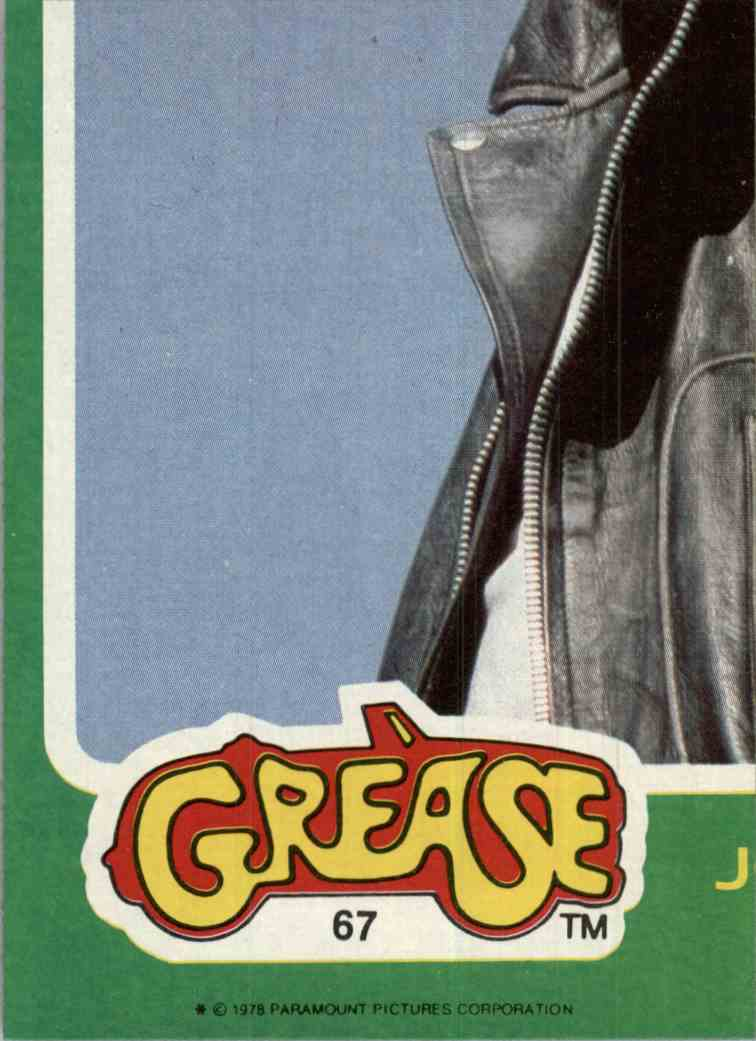 1978 Grease Nno #67 card front image