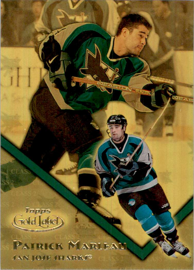 2000-01 Topps Gold Label Class 2 Gold Patrick Marleau #12 card front image