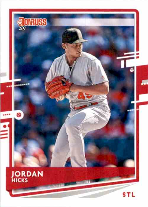 2020 Donruss Jordan Hicks #125 card front image