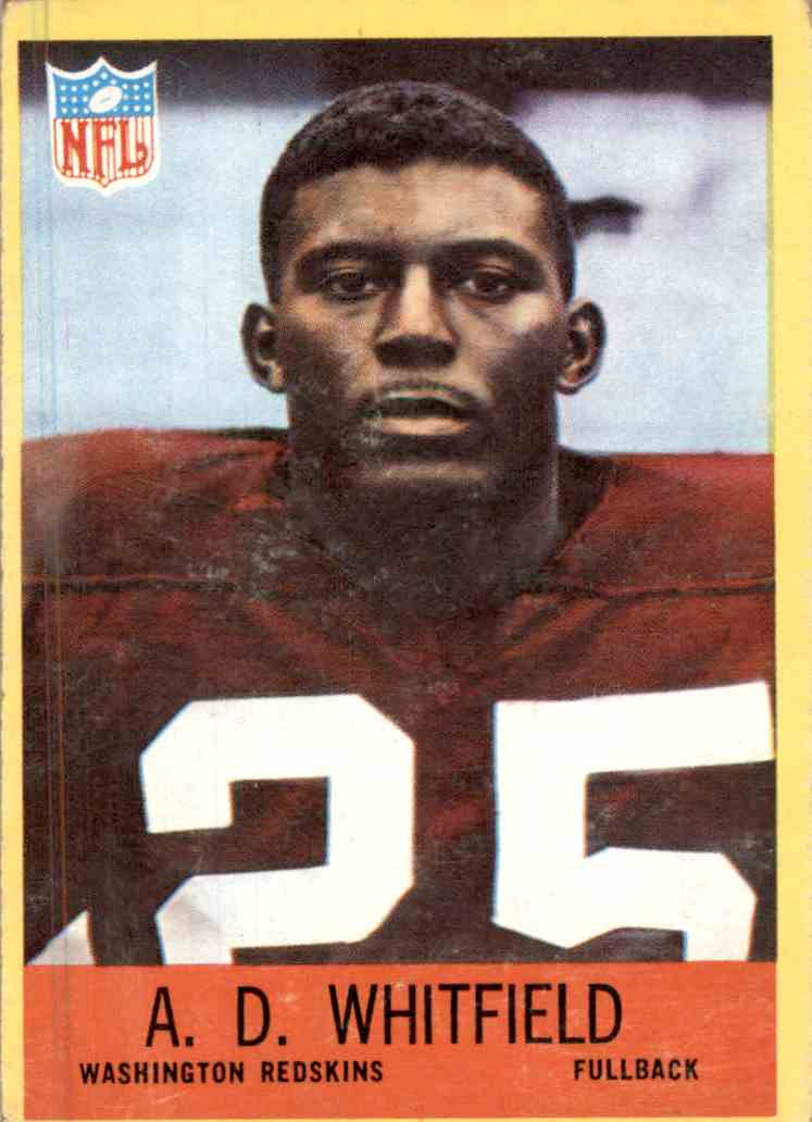 1967 Philadelphia A. D. Whitfield #191 card front image