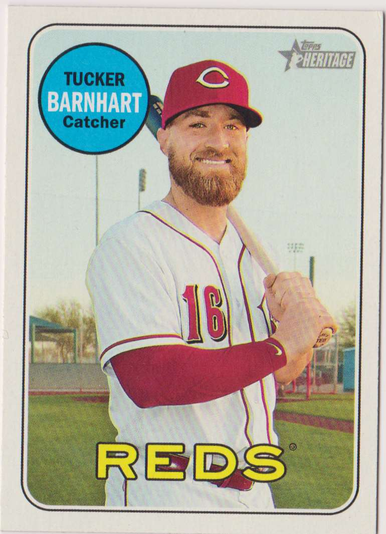 2018 Topps Heritage Tucker Barnhart #694 card front image