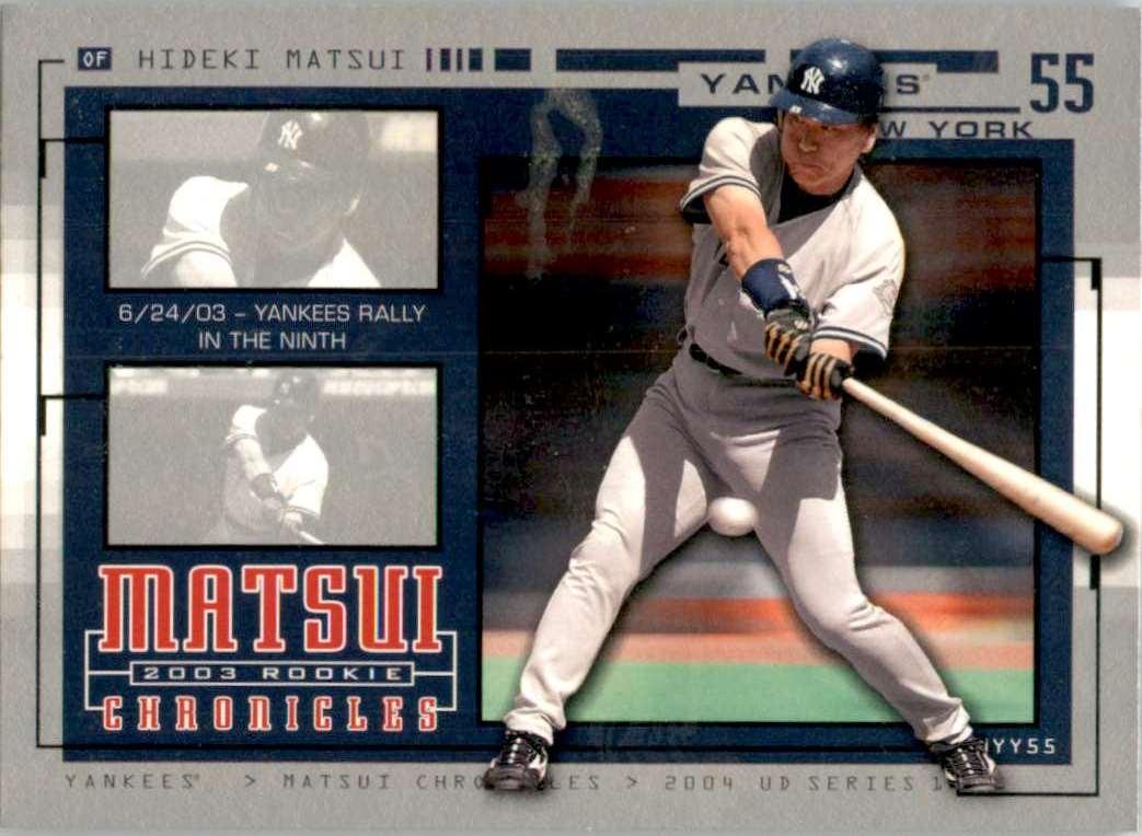 2004 Upper Deck Matsui Chronicles Hideki Matsui 6/24/03 #HM31 card front image