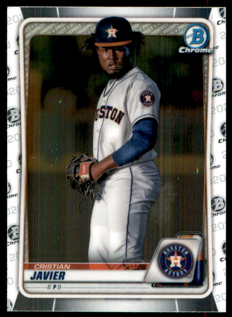 2020 Bowman Chrome Prospects Cristian Javier #BCP56 card front image