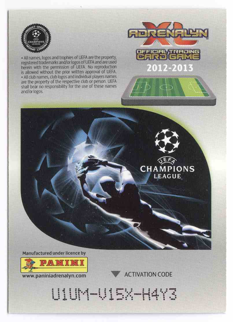 2012 Adrenalyn Xl Uefa Champions League Limited Editions Cristiano Ronaldo #LECR card back image