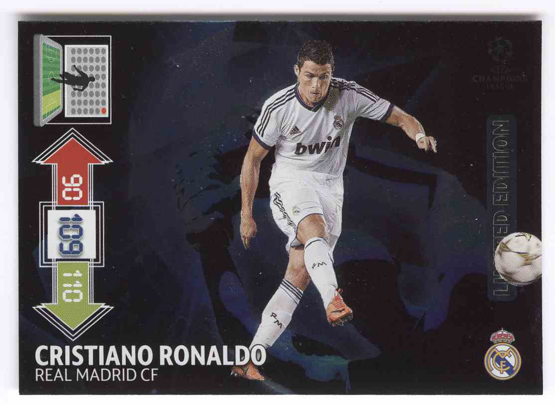 2012 Adrenalyn Xl Uefa Champions League Limited Editions Cristiano Ronaldo #LECR card front image