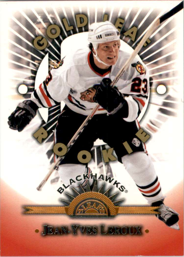 1997-98 Leaf Jean-Yves Leroux RC Glr #161 card front image
