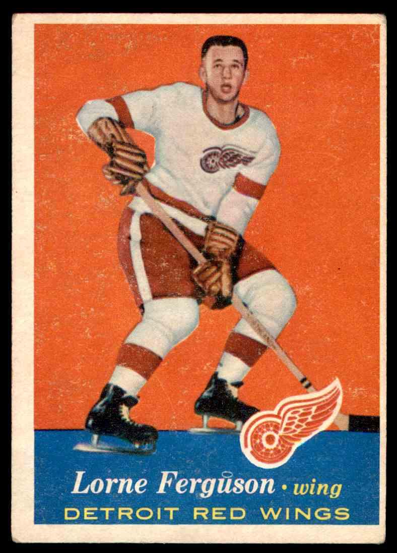 1957-58 Topps Lorne Ferguson #40 card front image